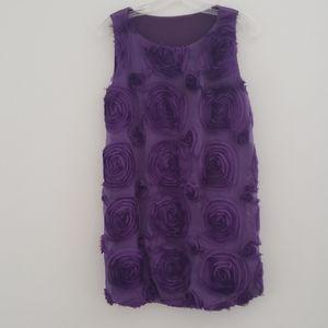 Dresses & Skirts - Purple applique flower dress